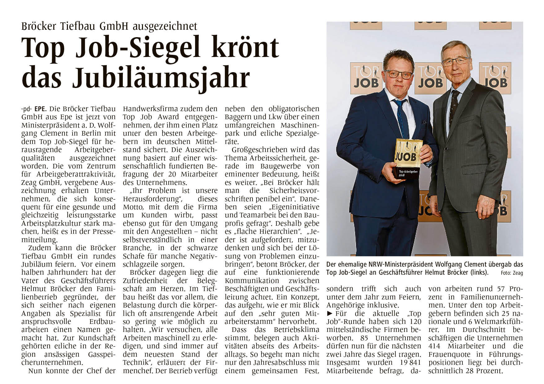Bericht Top Job-Siegel