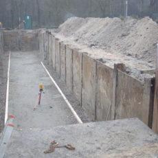 Berliner Verbau / Trägerbohlwand