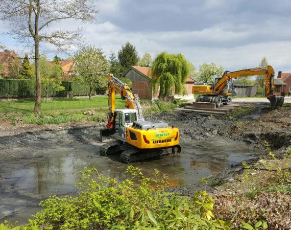 Entschlammung des Dorfteiches in Asbeck